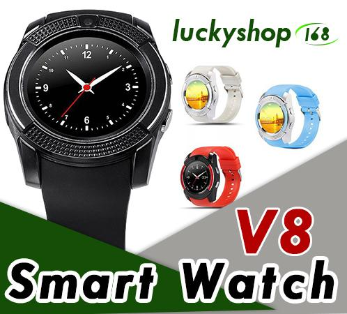 V8 Smart Watch Wristband Watch Band With 0.3M Camera SIM IPS HD Full Circle Display Smart Watch For Android System With Box 1pcs