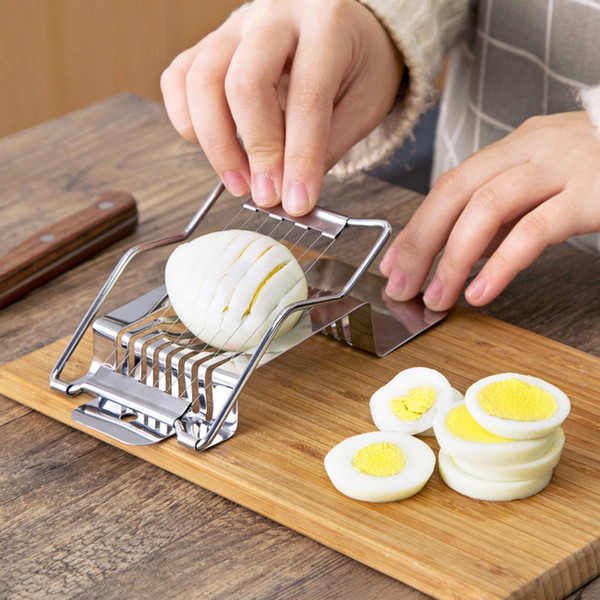 Multi function Slicer Egg Ham Sausage Banana Fruit cutter Stainless Steel Cooking Tools Food Splitter Luncheon Meat Slicer free shipping