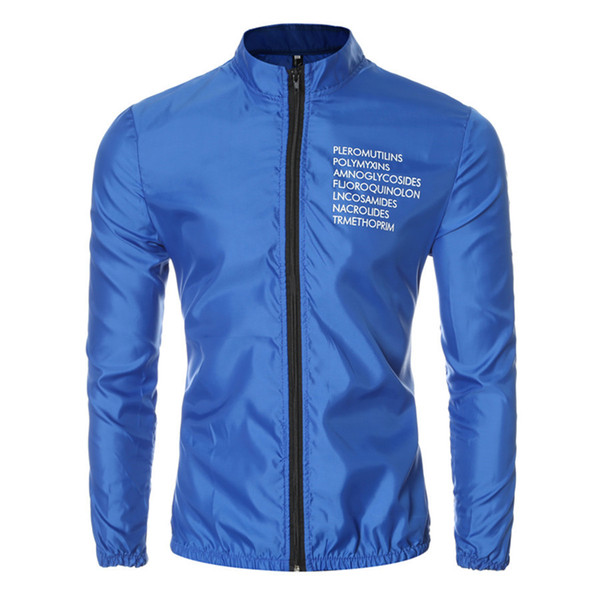 Hot Sale Sun protection Clothing Men Windbreaker Fashion Zipper Design Jacket Mens Stand Collar Casual Slim Fit Outwear Jackets