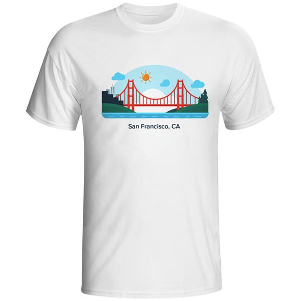 Men T Shirts T-shirt Male California San FranT-shirts For Man Tees T Shirt Tops Tees Fashion Clothes Top Homme Printed