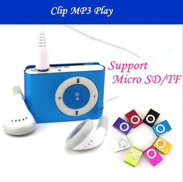 Lecteur MP3 Mini Clip Hot coloré Sport Sport mp3 joueurs viennent avec des écouteurs, câble USB, boîte au détail, support Micro SD / TF cartes