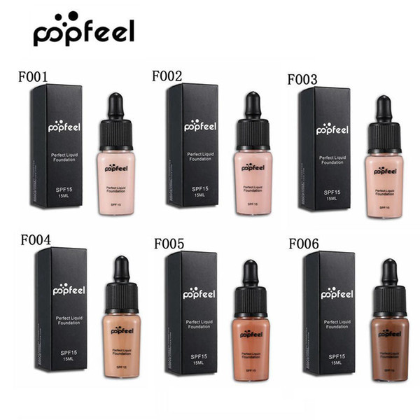 Epacket shipping Popfeel Concealer Liquid Foundation Perfect Foundation Popfeel Cosmetics Makeup 6colors Brighten Concealer Foundation