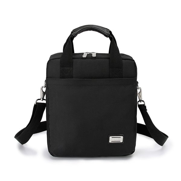 New men's briefcase commercial vertical shoulder bag messenger bag man handbag a4 oxford fabric black H1580