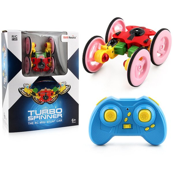 New Rechargeable 2.4G Remote Control Mini 360 Spinning Stunt Car And Flips with Flashing RC Car Toys