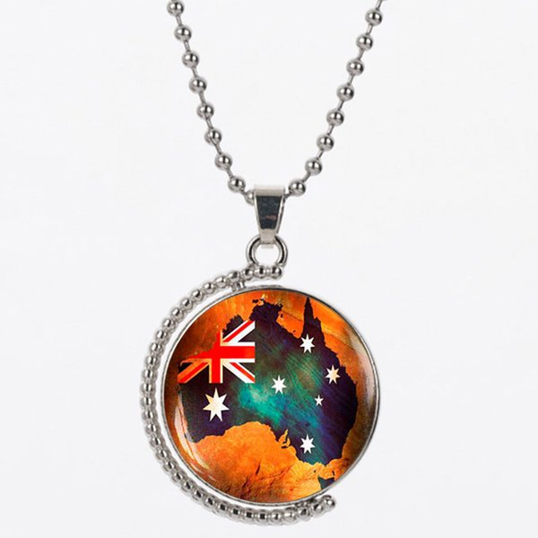 CAN12 Map of the USA resin matrtial 925 silver chain orange color send for women necklace gift