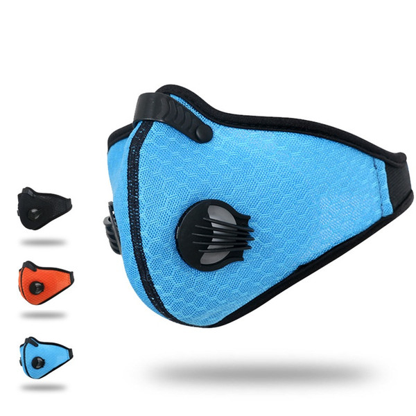 Cycling Bicycle Anti -Pollution Masks Activated Carbon Air Filter Mask Outdoor Sports Mouth Muffle Dust Half Face Covers