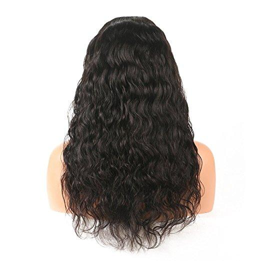 Natural wavy Brazilian Hair Wig Glueless Full Lace divaswigs Hair Wigs With Baby Hair 180% density Lace Front wigs for black women