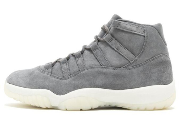 New 11s Gray Suede Men Basketball Shoes 11 Grey Suede Sports Sneakers High Quality With Shoes Box