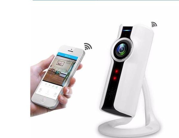 Ücretsiz Kargo Toptan VR180 Derece Panoramik Balıkgözü Lens Wifi IP Kamera 720 P Kablosuz Mini Gözetim Kamera 3D perspektif VR kamera