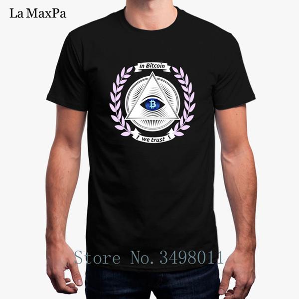 Hohe Qualität In Bitcoin Wir vertrauen Herren T-Shirt Sommer Baumwolle T-Shirt Herrenbekleidung Plus Größe 3xl Herren T-Shirt 2018 Homme