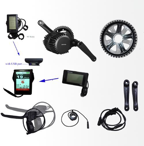 Bafang/8FUN BBS02 750W ebike kits 48V mid crank motor kits hydraulic brake sensor geared Motor kit electric bicycle bike kits
