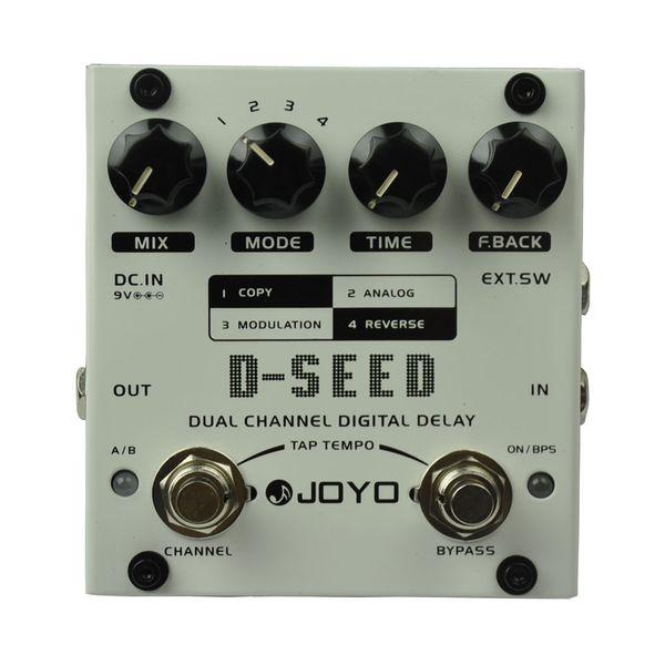 JOYO D-SEED Dual Channel Digital Delay Guitar Effect Pedal Max. Delay 6 seconds