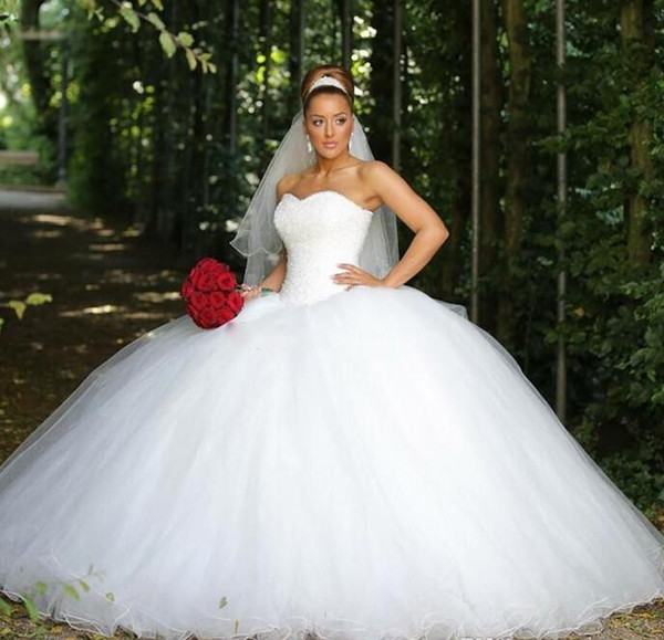 Discount Luxurious Ball Gown Wedding Dresses Sweetheart Sequins ...