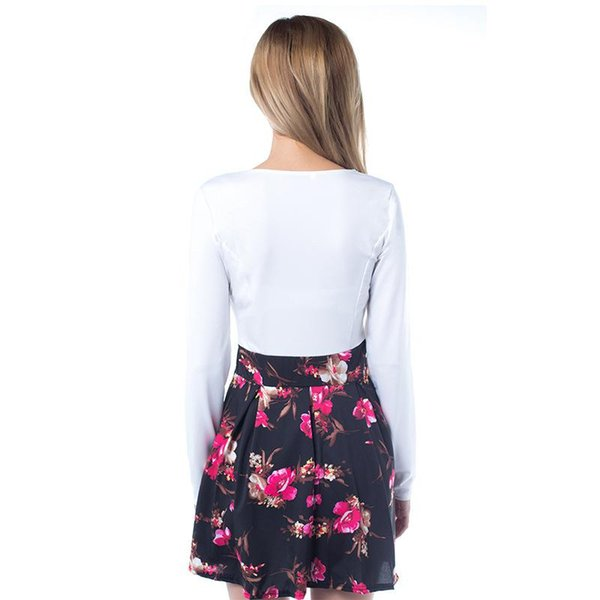 16bed793201 2017 Summer Dresses Floral Casual Stylish Elegant Print Charming Women V  Neck Sleeveless Zipper Work Office Expansion Dress
