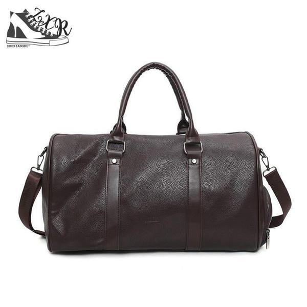 Black Pu Leather Bag For Women Men's Bags For Shoes Handbags Over The Shoulder Large Capacity Traveling Zipper Handbags Unisex