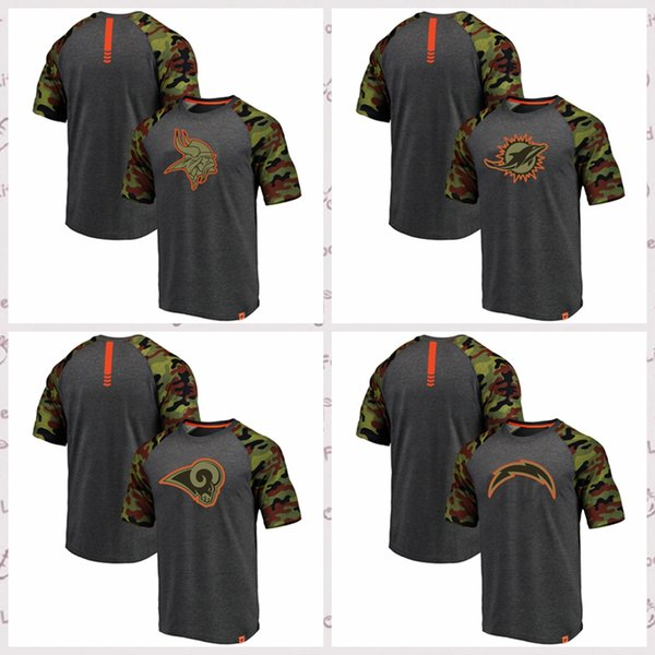 competitive price f5e78 7054f 2019 Pro Line By Fanatics Branded Miami Dolphins Los Angeles Chargers Rams  Minnesota Vikings Heathered GrayCamo Recon Camo Raglan T Shirt From Hxxy99,  ...
