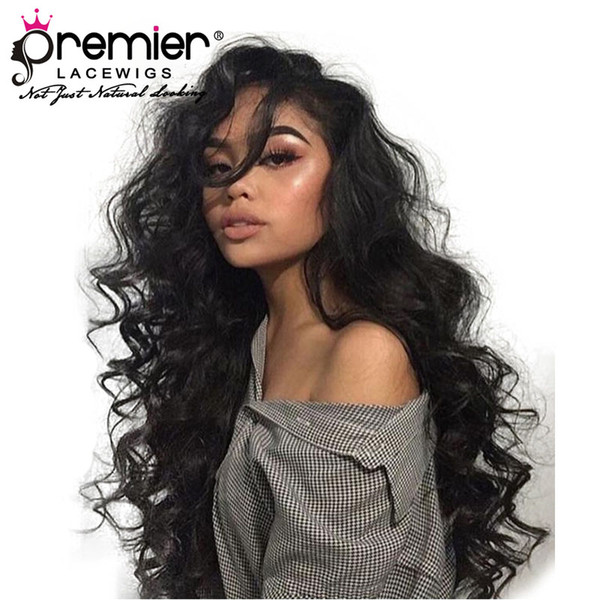 best selling 360 Full Lace Human Hair Wigs Brazilian Remy Hair Super Wave Pre-plucked Bleached Knots 150% Density Human Lace Wigs