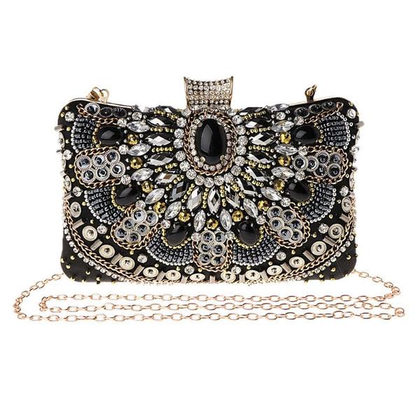 Stylish Rhinestone Shoulder Bag Luxury Handbag Women Bags Designer Evening Party Clutch Bag Wedding Wallet Purse Women Fashion