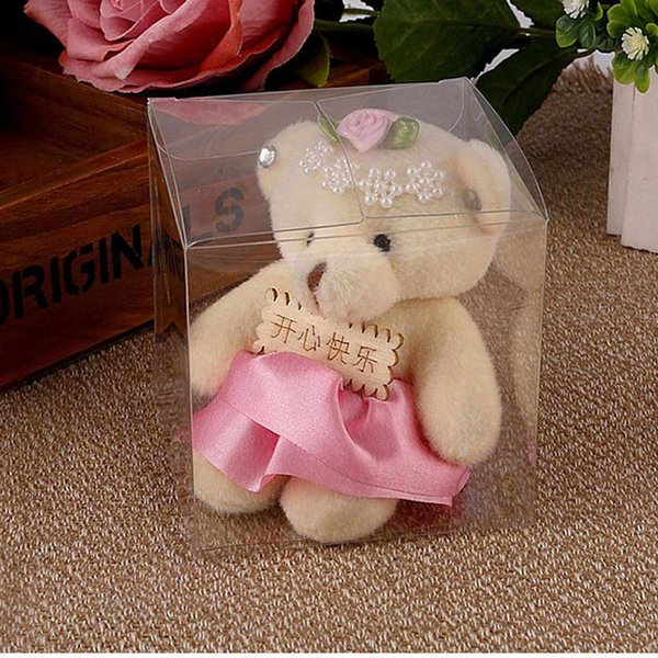 Size 5*5*5cm Small Plastic Box Clear PVC Gift Box Wedding Party Favor Boxes Macaron Box Candy Boxes QW8191