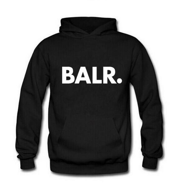 Men BALR Printed Fleece Hoodies Spring/Autumn/Winter Long Sleeved Hooded Tops Casual Hip Pop Pullover Punk Mens Sportswear Sweatshirt tops