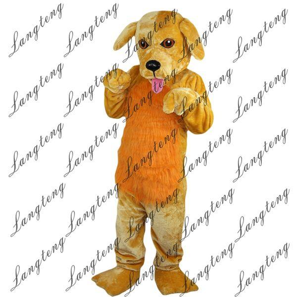 2018 New alta qualidade Yellow dog trajes da mascote para adultos circo do natal do dia das bruxas Outfit Fancy Dress Suit grátis Shipping016