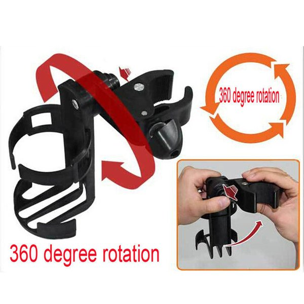 Carriage Cart Accessory Bottle Cup Holder Adjustable 360 Degree Roating Baby Stroller Accessory Baby Infant Stroller Bicycle