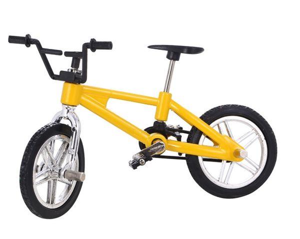 4 colori baby finger bicicletta giocattoli piccola bici in lega di plastica modello in miniatura diecast bicicletta mestiere desktop display decorazione della casa 600 pz