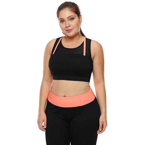 Women Big Plus Size XXXL Fitness Crop Top High Impact Support Bounce  Control Push Up Padded Running Yoga Workout Sports Bra 2018 b40d2f50f