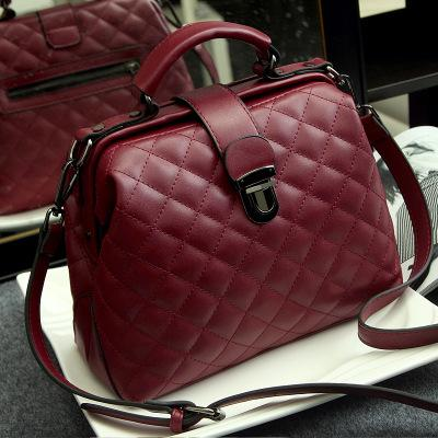 wine red quilted