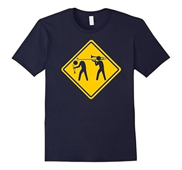Funny Tees Crew Neck Short-Sleeve Graphic Funny Trombone Tshirt . Trombonist Tshirt Men's Casual T-Shirt Tees For Men