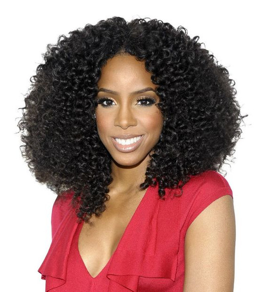 Kelly Kinky Curly lace front Wig natural Human Hair wigs For Black Women Short afro Curly Wigs 180% Density African Hair wig