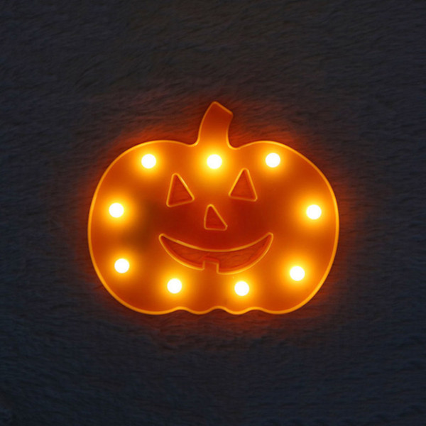Halloween Decorative Cute LED Pumpkin Lights Luminary Wall Table Bedside Lamp Cartoon Design Decor for Party Lighting Gifts
