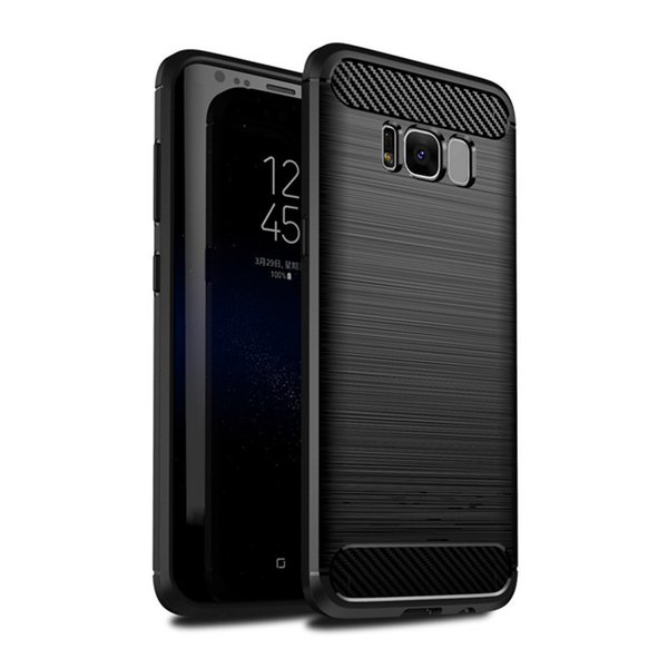 Rugged Armor Case for iPhone XR XS MAX 8 7 Samsung Galaxy Note9 S8 S9 Plus S7edge Anti Shock Absorption Carbon Fiber Design