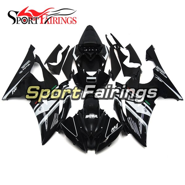 FLAT Black White Motorcycles Fairings For Yamaha YZF600 R6 YZF-R6 2008 - 2016 09 10 12 13 Injection ABS Plastic Motorcycle Body Kits New