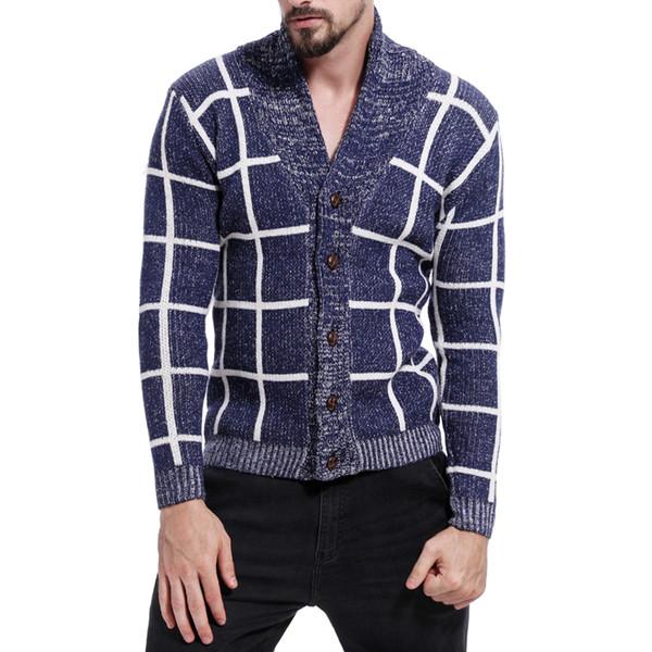 IEF.G.S 2018 dos homens Nova Coloração Camisola Oco Gola Sweatercoat Coréia Slim Fit Outono Moda Casual Roupas de Inverno