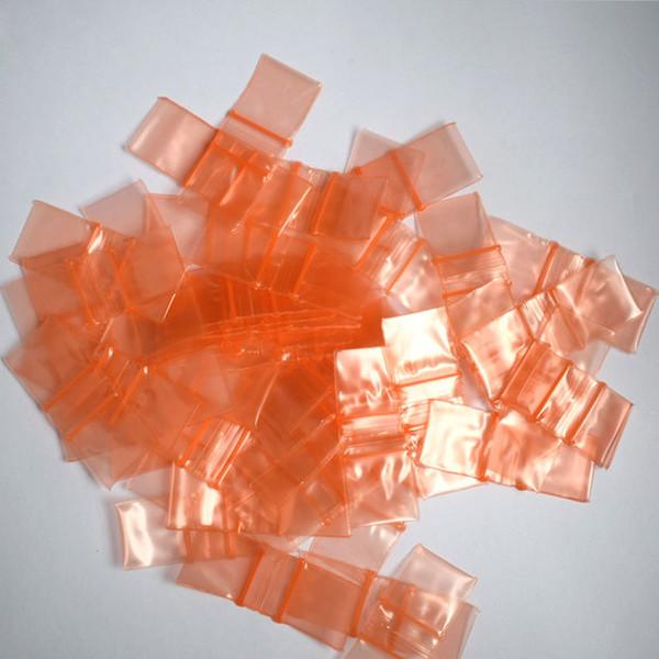 """1010 Mini Zip bags 1""""x1"""" Resealable Clear Plastic Seal Orange Zip Lock Bags 5mil"""