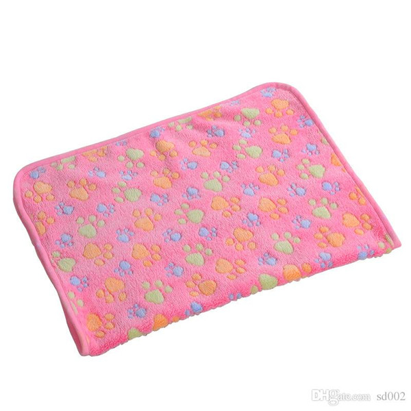 best selling Dog Bed Blanket Multi Size Pratical Puppy Pads Coral Velvet Cat Blankets Soft Cozy Cute Pet Mat 2 5xw3 ii
