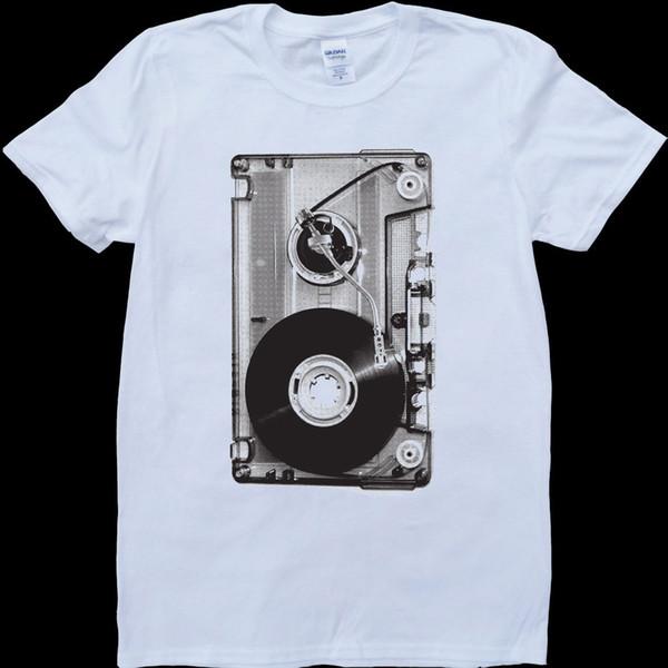 Casette Tape White, T-shirt personnalisé pour homme