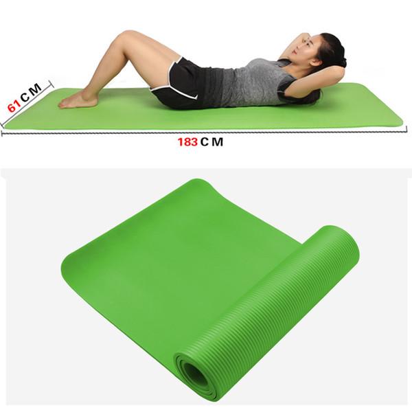 KAWO 10mm Dicke Yoga Matten Fitness Umwelt Geschmacklos Verlieren Gewicht Übung Fitness Yoga Gymnastik Matten Innen