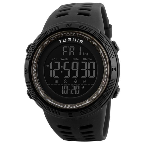 Famous brand TUGUIR 1251 simple casual clock waterproof men's digital watch sports multi-function ladies watch relogio masculino
