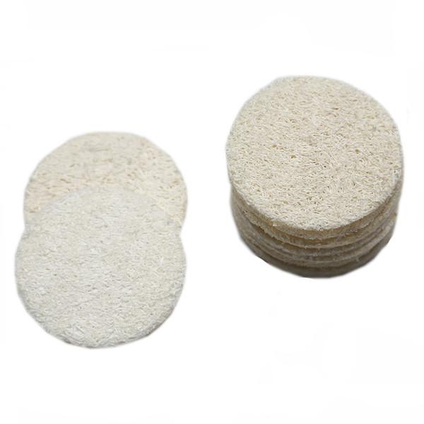 best selling Natural Loofah Facial Pads Loofah Disc Makeup Remove Exfoliating Face Loofah Pad Small Size Luffa Loofa