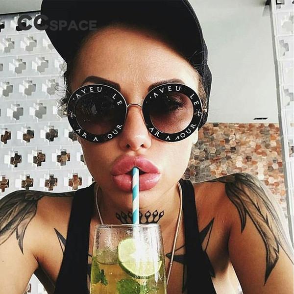 Retro gafas de sol redondas letras inglesas Little Bee hombres mujeres UV400 marca gafas diseñador de moda 45319