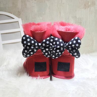 Fashion high quality Australia WGG New Mickey classic tall winter boots real leather Bowknot women's snow boots shoes Adults children EUR22-