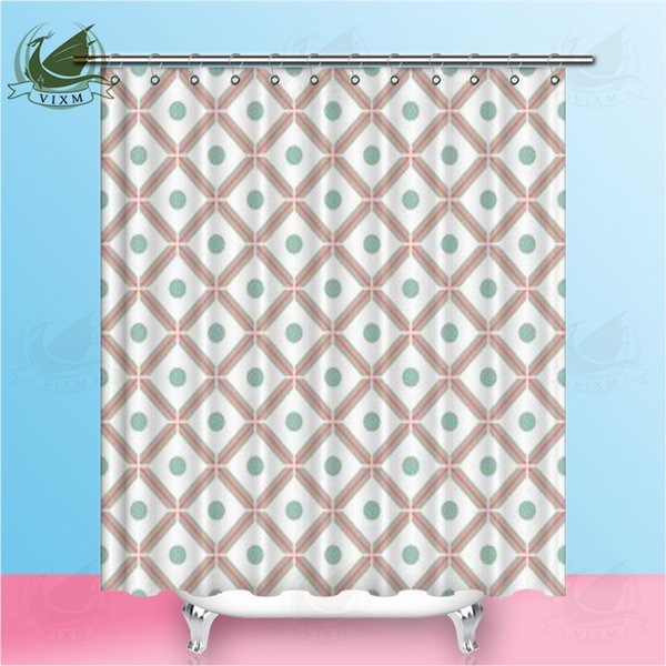 Vixm abstract geometry European style shower room curtain polyester fabric waterproof mildew bathroom curtain thickened decorative curtain