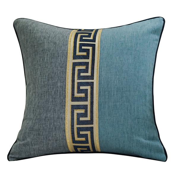 Patchwork Vintage Lace Cotton Linen Cushion Sofas Chair Lumbar Pillow Classic Backrest Home Decor Cushions Ethnic