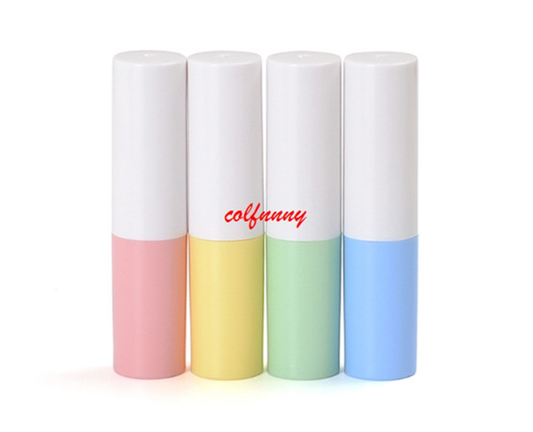 200pcs/lot Fast Shipping Empty Lipstick Tube Ivory Plastic Lip Balm Container Small Cosmetic Lipstick Gloss Sub-bottling