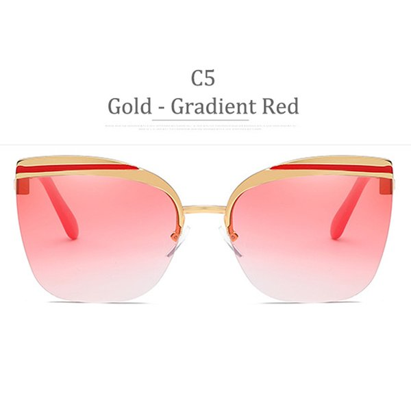 C5 Gold Frame Gradient Red