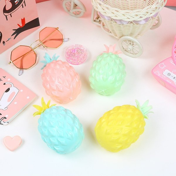 Pineapple Shape Mesh Squishy Ball For Children Adults Stress Relieve Toys Creatuve Fruit Hand Squeeze Toy High Quality 3 2la BB