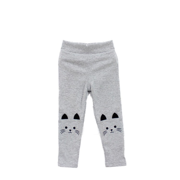 Baby Girls Boys Cute Cat Face Printed Pants Trousers Bottom Clothing Winter Kids Stretch Leggings Trousers 2-7 Years old