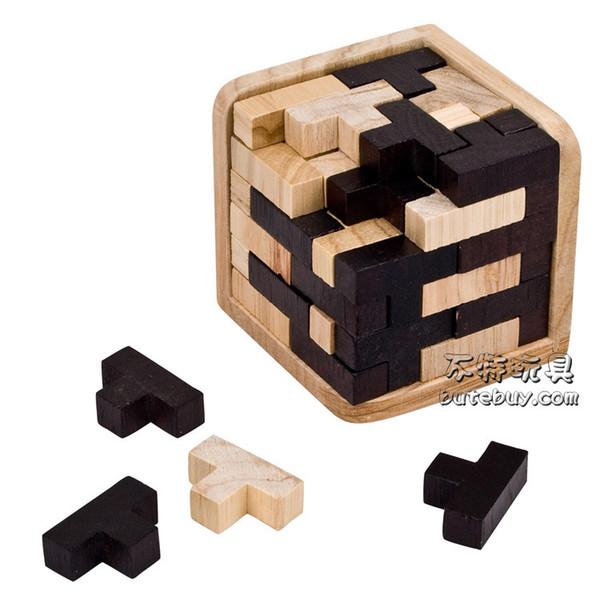 Corner Blocks Magic Bucket Locks Luban Lock Hot Sale Puzzles Unlocked 54 T